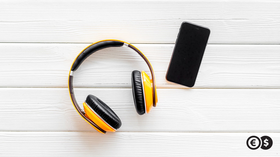 Słuchawki i smartfon