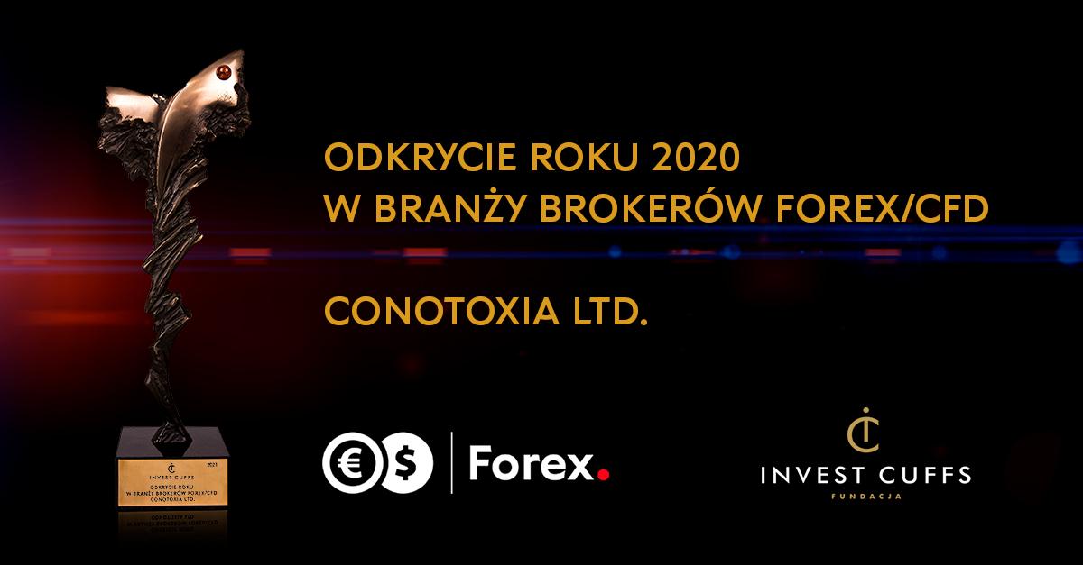 """Conotoxia Ltd. z tytułem """"Odkrycie roku 2020 w branży brokerów FX/CFD"""""""