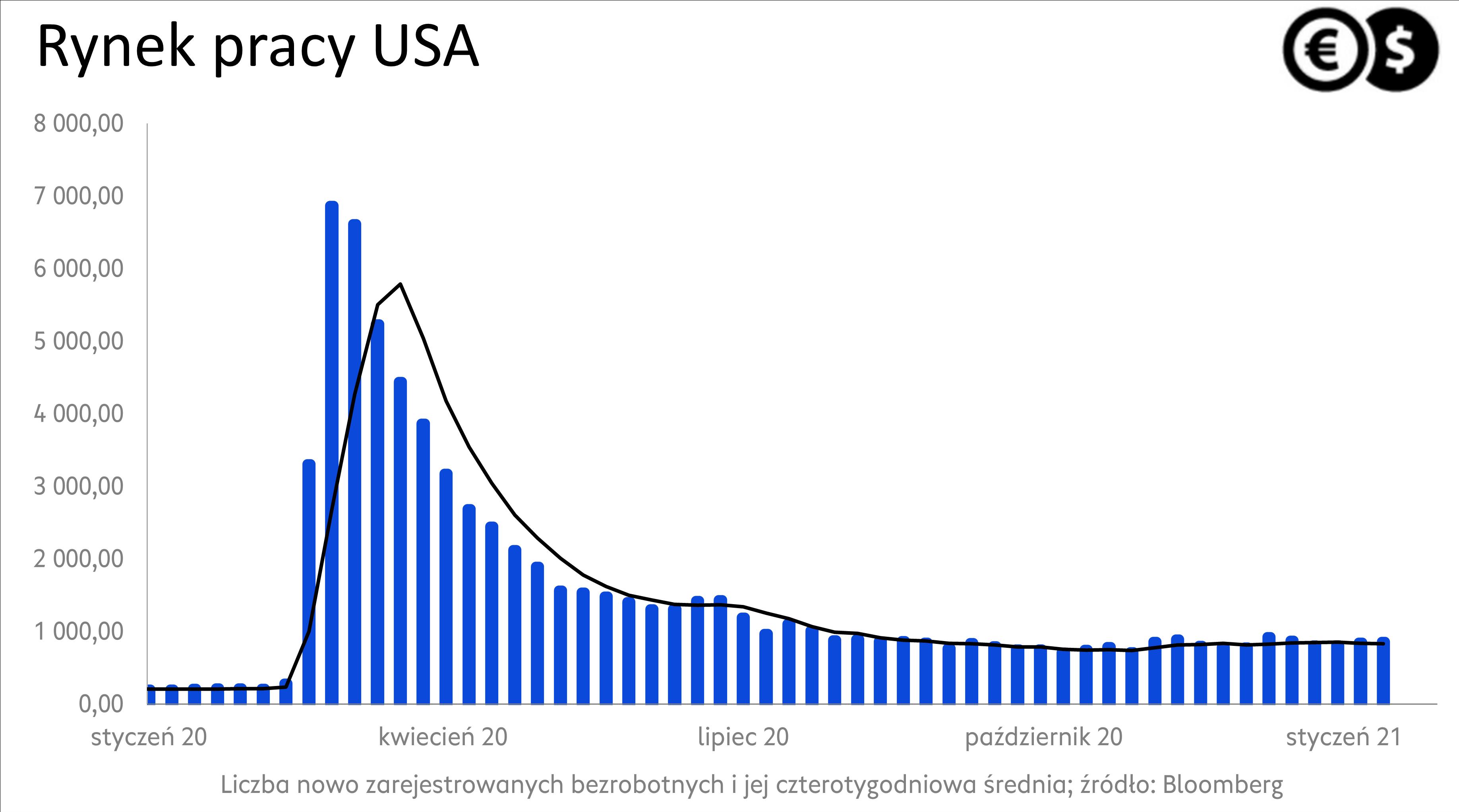 Rynek  pracy w USA