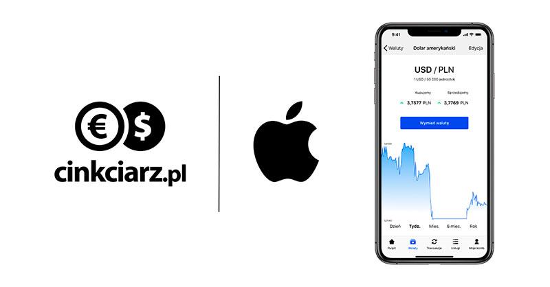 Wymiana Walut 3.0 od Cinkciarz.pl dostępna na iOS
