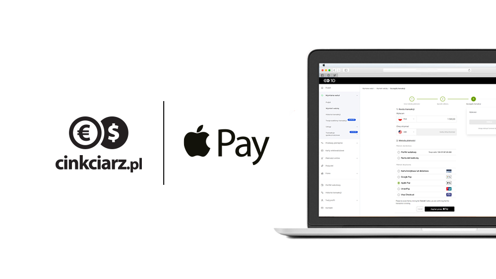 Apple Pay w portalu Cinkciarz.pl