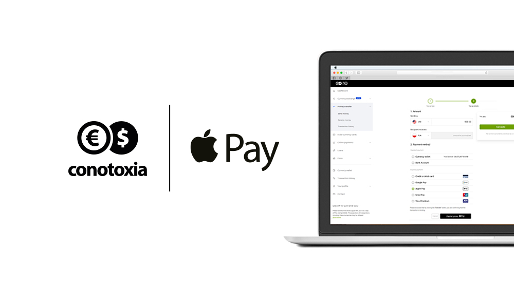 Apple Pay at Conotoxia.com