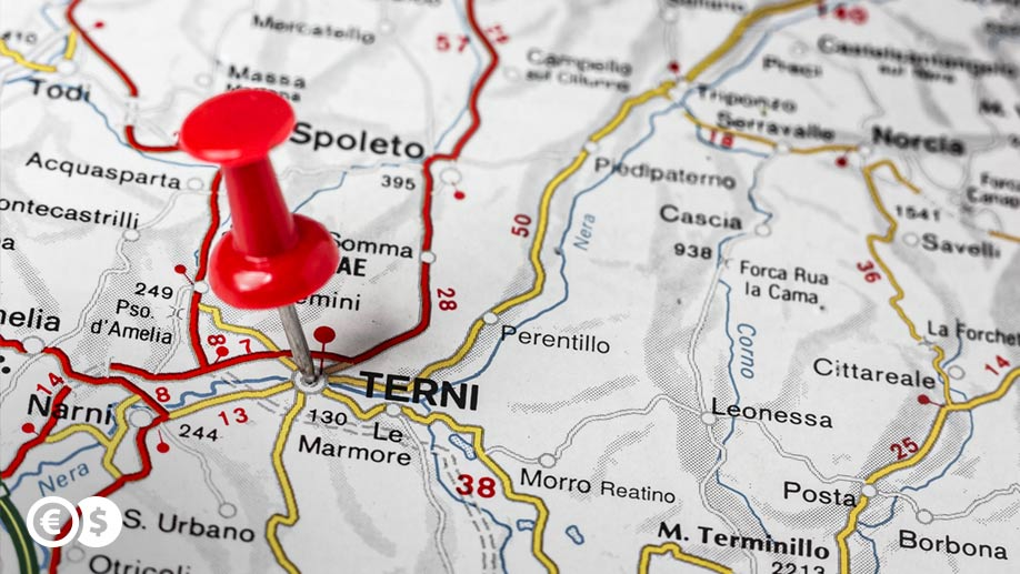 Terni na mapie