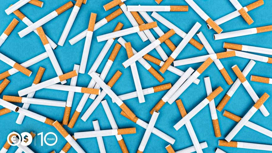 Rozsypane papierosy