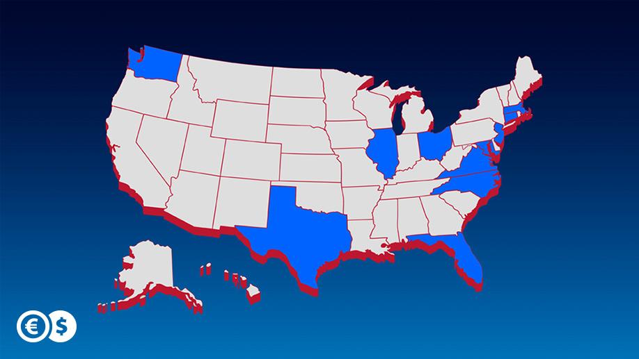 Kolejne 10 stanów w USA