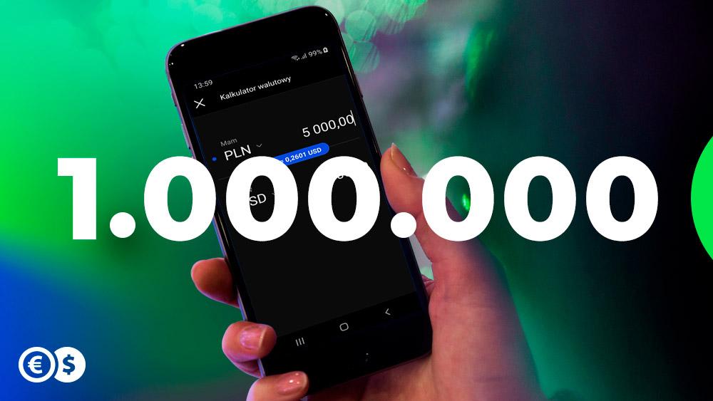 Aplikacja Cinkciarz.pl pobrana milion razy
