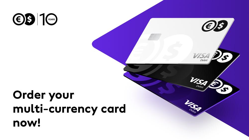 True multi-currency card