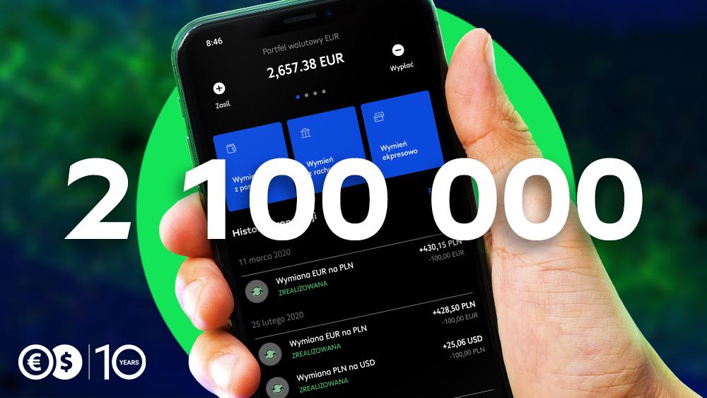 Ponad 2,1 miliona pobrań aplikacji Cinkciarz.pl