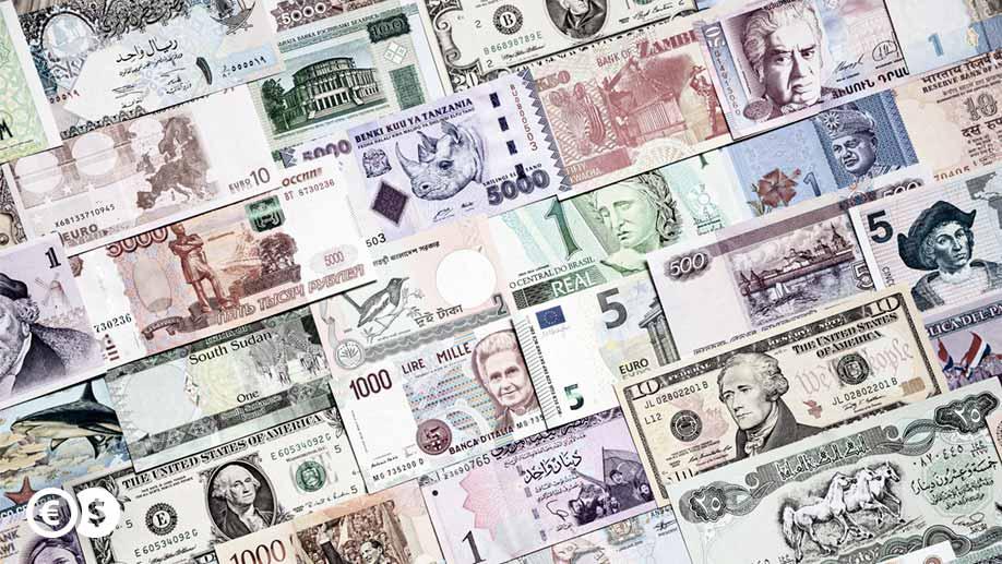 Różne banknoty