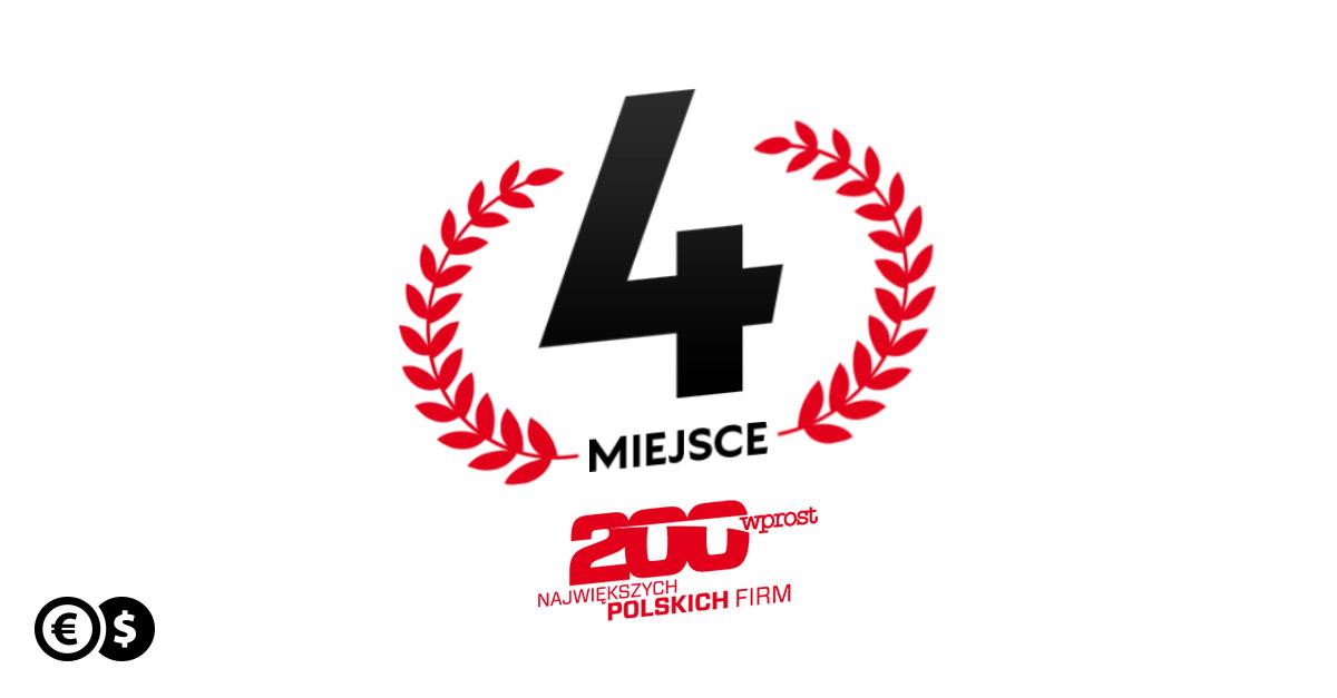 Cinkciarz.pl zajął 4. miejsce w najnowszej edycji Listy 200 Największych Polskich Firm 2021 Wprost