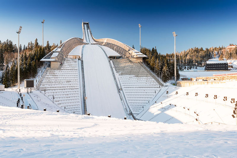 Ski jump in Norway