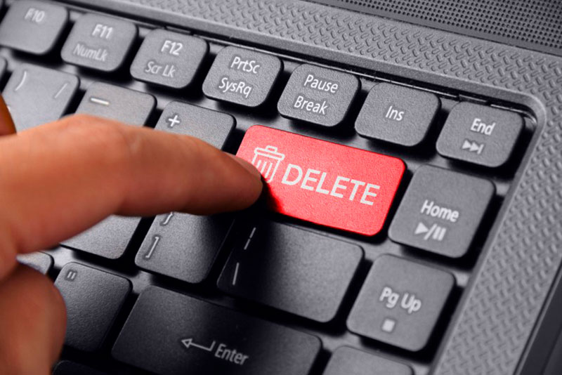 Przycisk delete
