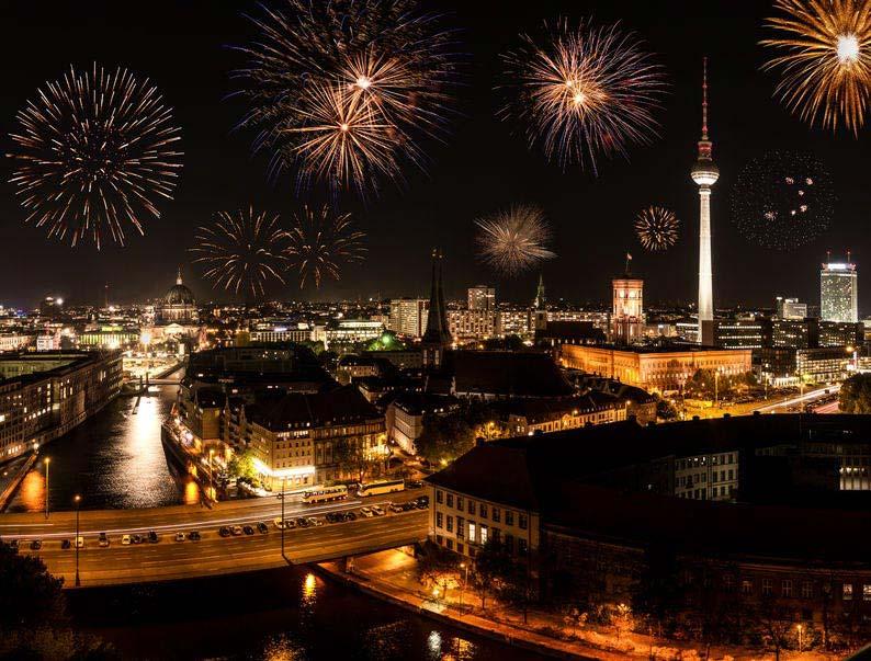 Fajerwerki - Noc Sylwestrowa - Berlin