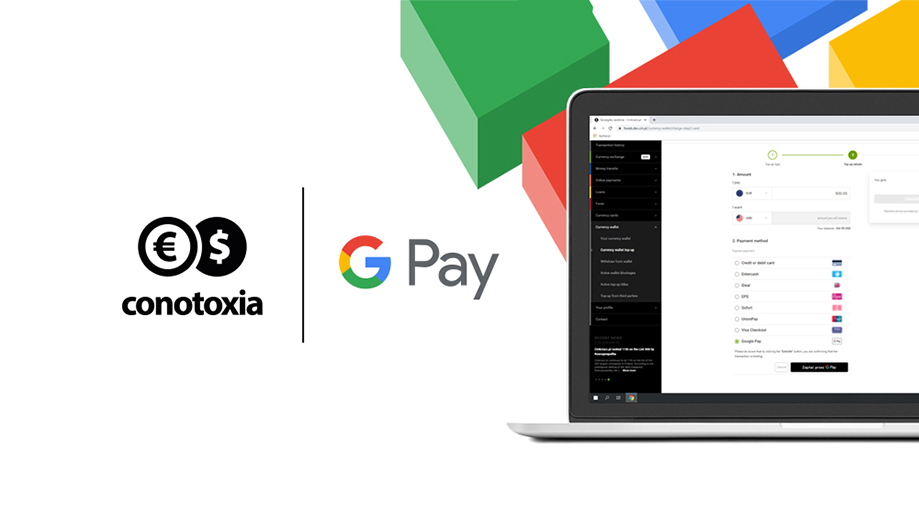 Pay with Google Pay at Conotoxia.com
