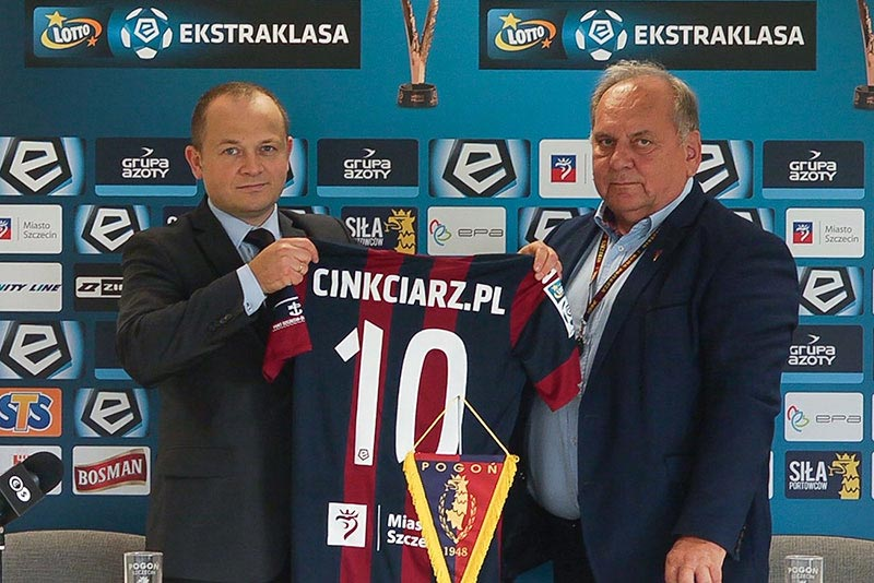 Pogoń Szczecin - podpisanie umowy - Cinkciarz.pl