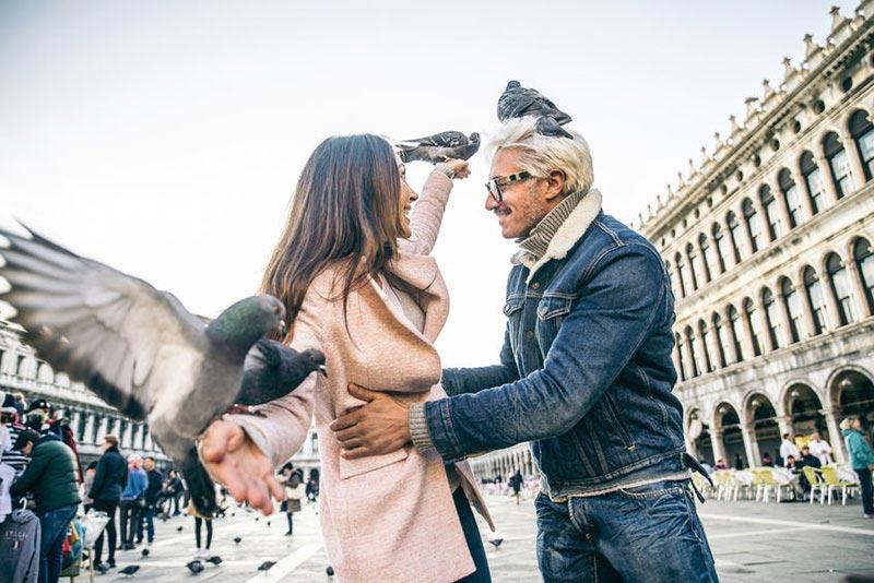 Zakochana para w Wenecji