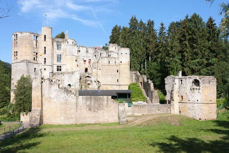Widok na ruiny zamku