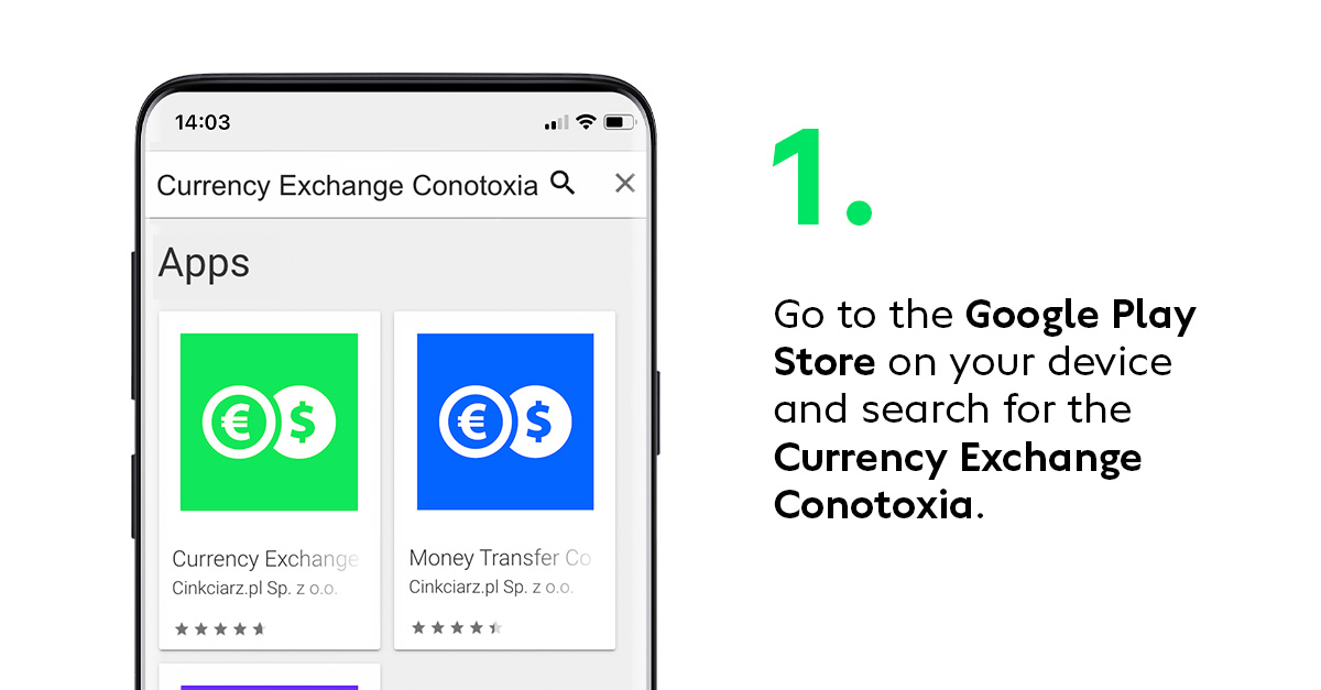 Beta tests of the new Conotoxia app step 1