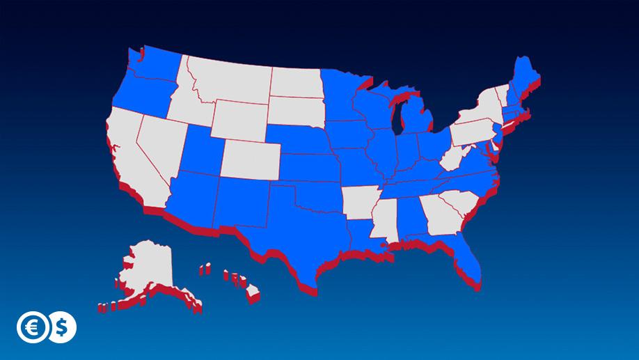 Przekazy pieniężne dostępne już w 31 amerykańskich stanach